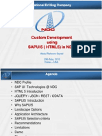 Custom Development Using SAPUI5 HTML5 in NDC