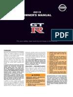 2013 GTR Owner Manual