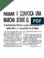 EFE 16/10/1975 Convocatoria marcha verde teletipo