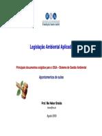 Principais Documentos Legais SGA - Modo de Compatibilidade