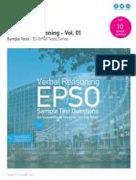 Verbal Reasoning Sample Tests - EU EPSO Volume 01