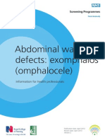 Abdominal Wall Defects; Exomphalos (Omphalocele)