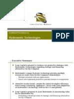 Hydro Ma Tic Technologies Presentation 10-30-09