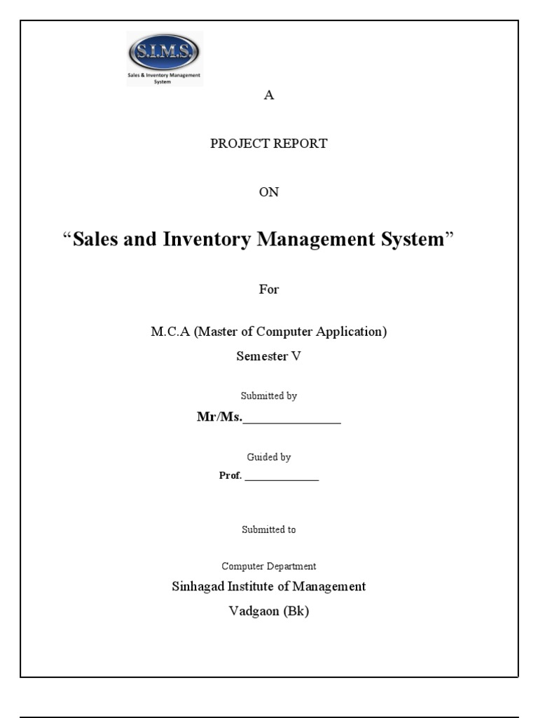 Project report on sales and inventory management system project report on sales and inventory management system warehouse databases pooptronica
