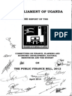 Committee Report Public Finance Bill 2012