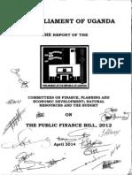 Committee Report Public Finance Bill 2012
