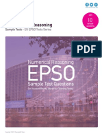 Numerical Reasoning Sample Tests - EU EPSO