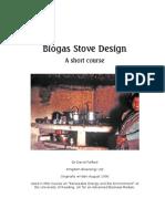 Biosgas Stove Design