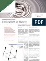 Increasing Profits Per Employee - Four Groups