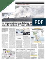 La Contaminación Del Aire en Lima Excede Casi en 4 Veces El Límite Mundial