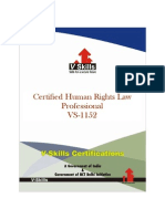Human Rights Law Certification