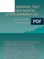 CLOCK-DRAWING TEST AND MINI MENTAL STATE EXAMINATION.ppt