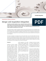 Merger and Acquisition Integration - Four Groups