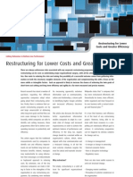 Restructuring for Lower Costs and Greater Efficiency - Four Groups