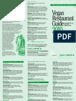 Vegan Restaurants Guide (Washington DC) 2010