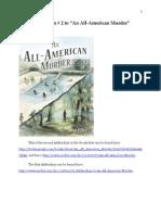 """Addendum # 2 to """"An All-American Murder"""""""