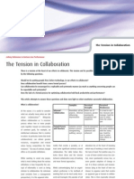 The Tension in Collaboration - Four Groups