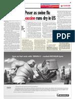 TheSun 2009-11-03 Page11 Poser as Swine Flu Vaccine Runs Dry in Us