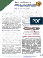 Boletin 10 de Derechos Humanos. Mayo de 2014.