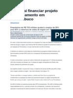 Caixa Vai Financiar Projeto de Saneamento Em Pernambuco