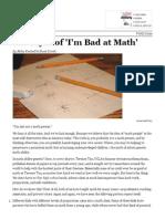 the myth of im bad at math
