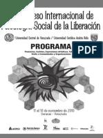 1. Programa X Congreso PSL