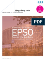 Prioritizing and Organizing Tests - EU EPSO