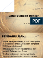 1.Sejarah & Perkembangan Lafal Sumpah Dokter Indonesia