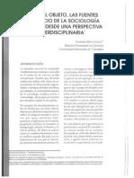 Sobre El Objeto, Las Fuentes y El Oficio Sociología Jurídica