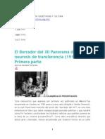 El Borrador Del XII Panorama de Las Neurosis de Transferencia_ Revista
