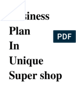 Plan Unique Super Shop