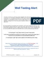 FCE Well Testing Alert Rev 1 - Complet