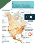 Extensión Territorial de Norte América