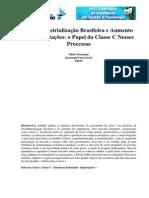 A Desindustrialização Brasileira e Aumento