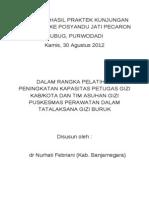 Laporan Hasil Praktek Kunjungan Lapangan Ke Posyandu Jati Pecaron