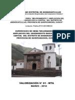 VALORIZACION N° 1 MES DE MARZO supervision