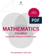 jc maths for examination in 2015