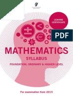 leaving cert maths syllabus from 2015