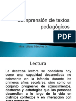 Comprensión de Textos Pedagógicos