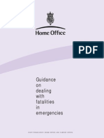019. Mass Fatality Incidents; Home Office Doc.