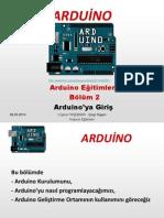 Arduino Eğitimleri - 2 - Arduino Platformuna Giriş
