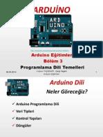 Arduino Eğitimleri - 3 - Arduino Programlama Dili