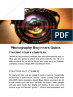 photography beginners guide
