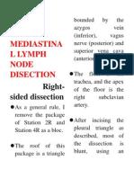 Mediastinal Lymph Node Disection