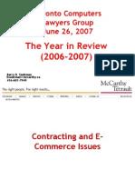 Toronto Computers Lawyers Group (2006-2007)