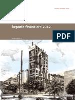 Reporte Financiero 2012 - Holcim Ecuador