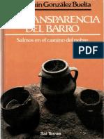 Gonzalez Buelta Benjamin - La Transparencia Del Barro