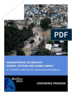 Humanitarian Technology 2014 Program