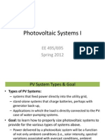 Photovoltaic Systems I