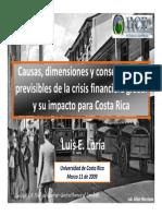 Luis E. Loria - Causas, Dimensiones y Consecuencias Previsibles de la Crisis en Costa Rica